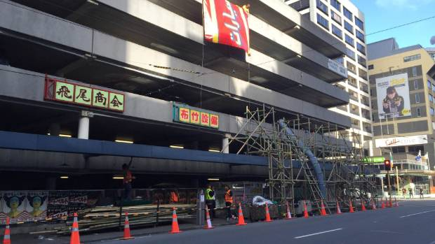 Wellington's Victoria St being changed for filming of Ghost in the Shell, featuring Scarlett Johansson.