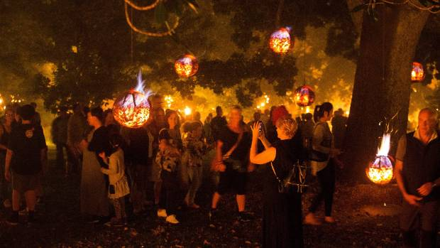 Carabosse's installation Fire Garden at the Auckland Domain, as part of the Auckland Arts Festival. There is always ...