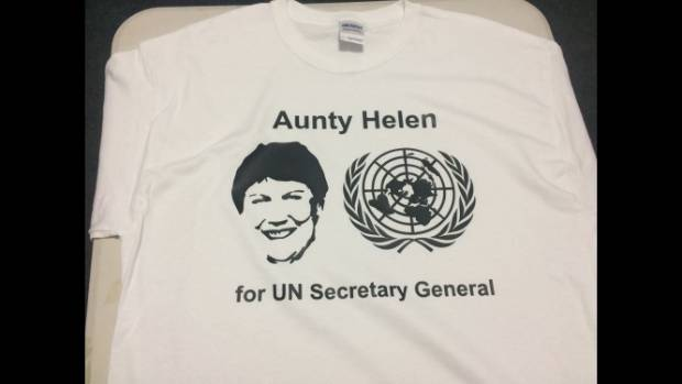 You can even support Helen Clark's nomination for UN Secretary General by sporting this t-shirt.