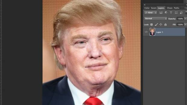 Awesome Someone Has Photoshopped Donald Trump Without His Fake Tan And Hairstyles For Women Draintrainus