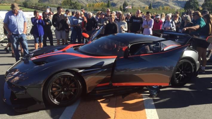 Tony Quinn Unveils 4 2 Million Aston Martin Vulcan Supercar In Cromwell Stuff Co Nz
