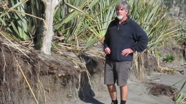 punakaiki campground manager craig findlay is worried about the threat of severe coastal erosion - Campground Manager
