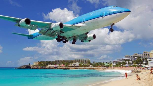 Maho Beach is one of the most notorious plane landing spots in the world.