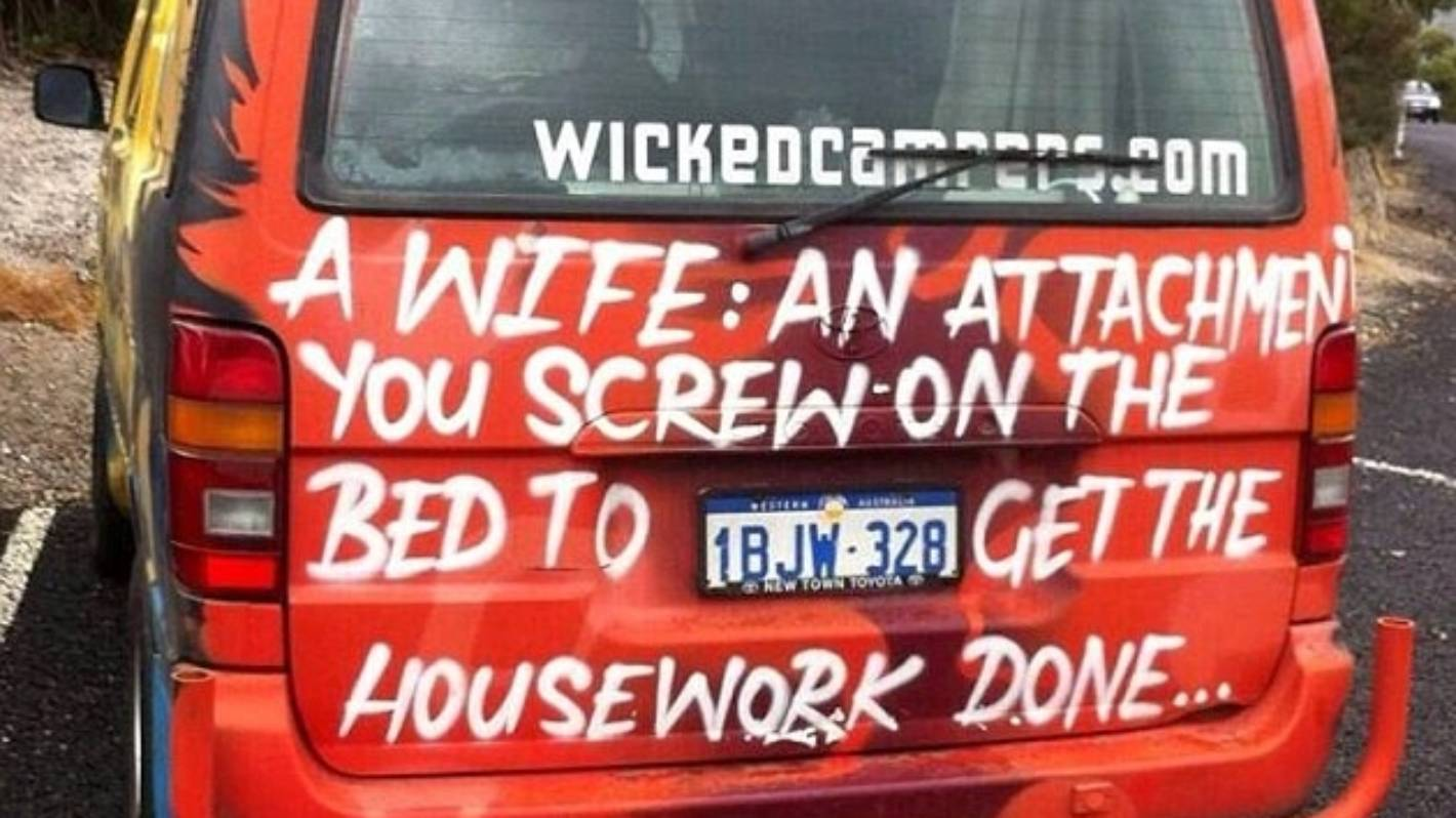 1ac2091cf6ad5a Editorial  Time to throw Wicked Campers on the barbie