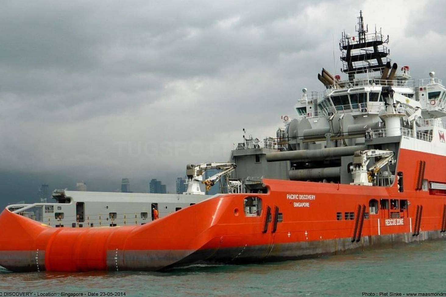 Pacific Discovery vessel towed to Nelson after being damaged in