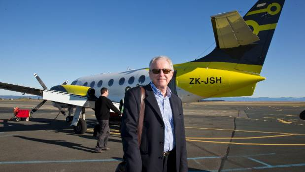Originair managing director Robert Inglis with one of the Nelson airline's Jetstream aircraft.