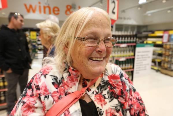 Ann Davis-Honatana was one of the first customers through the doors.
