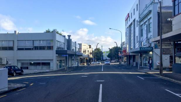 A number of shops and buildings around New Plymouth's Currie St are for sale or for lease.