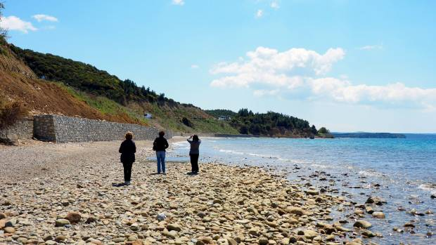 The beach at Anzac Cove is today a peaceful and beautiful place.