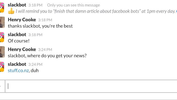 Slackbot at work. (Okay, I cheated a little bit with the last one.)