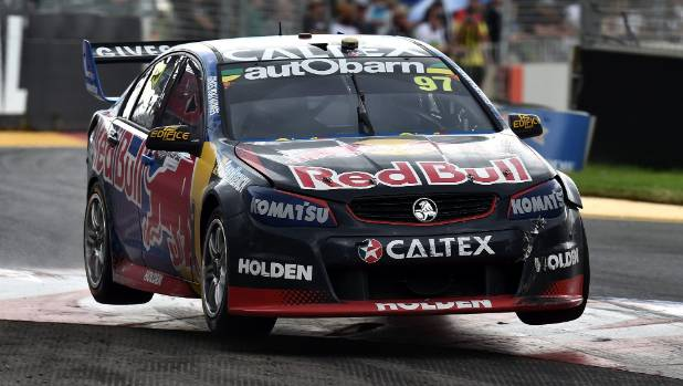 Shane Van Gisbergen drives the No 97 Red Bull Racing Australia Holden Commodore at V8 Supercars Clipsal 500 in Adelaide.
