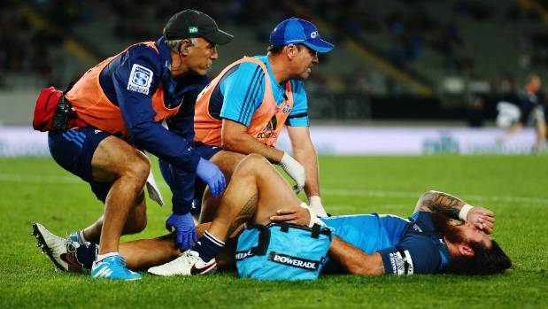Blues centre Rene Ranger's season is over because of the serious knee injury he suffered in the 23-18 win over the ...