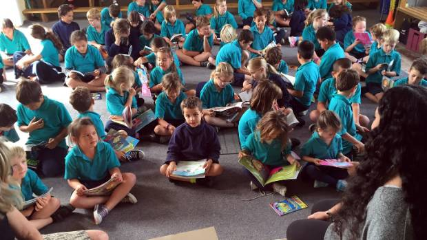 Kaikoura Primary School children get stuck into reading.