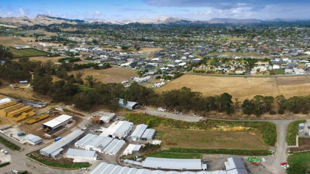 Havelock North's Te Mata Mushroom Company, at the bottom of the picture, was established in 1967 in a rural zone but ...