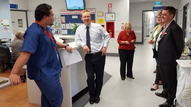 Health Minister Dr Jonathan Coleman visits Wairau Hospital, in Blenheim, on Friday.