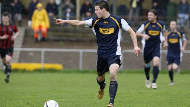 Nelson Suburbs' Matt Shaw in a 2010 Chatham Cup match against Western. Suburbs has not entered the national knockout ...