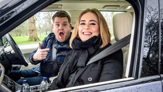 James Corden and Adele enjoy some Carpool Karaoke.