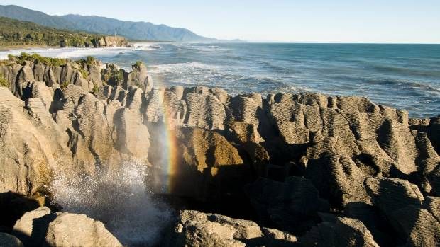 The Pancake Rocks, on the West Coast, are the second most visited natural attraction in New Zealand after the Huka Falls.