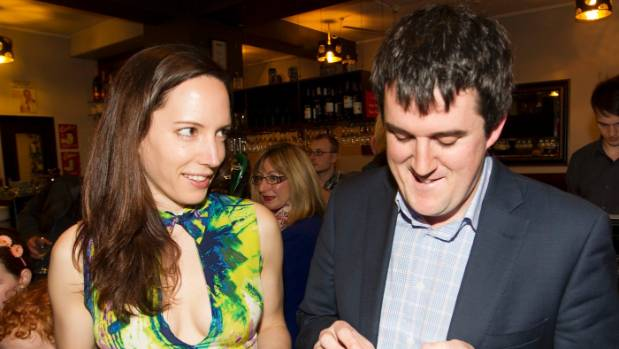 Barton Deakin lobbyist Jenna Raeburn, pictured on 2014 election night with her partner and National MP Chris Bishop, ...