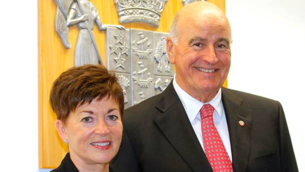Dame Patsy Reddy, the new Governor-General, pictured with her husband Sir David Gascoigne.