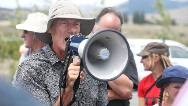 Another cause: Minto at an Anti-Bases protest at Waihopai, Blenheim, just in January.