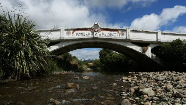 The Anzac Memorial Bridge at Kaiparoro near Eketahuna is the country's only bridge built specifically as an Anzac memorial.