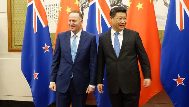 Prime Minister John Key and Chinese President Xi Jinping have given out positive signals over trade between New Zealand ...
