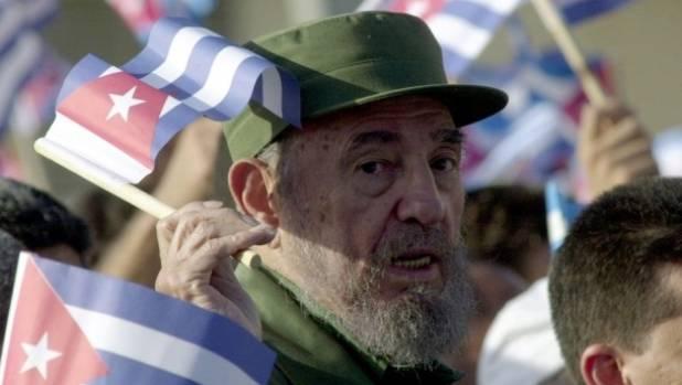 Cuban revolutionary leader Fidel Castro.