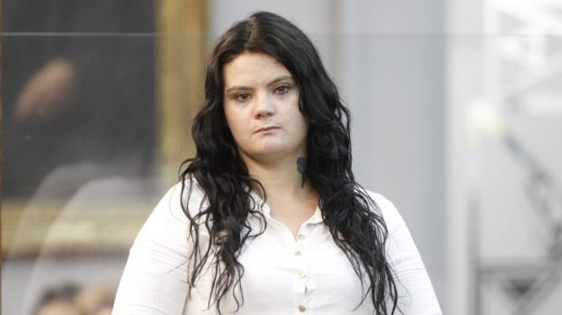 Daryl Kirk in court on the day she learned the jury's verdict that she was guilty of the manslaughter of Adam Watkins.