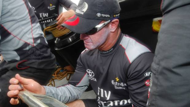 Kevin Hall was the navigator for Emirates Team New Zealand.