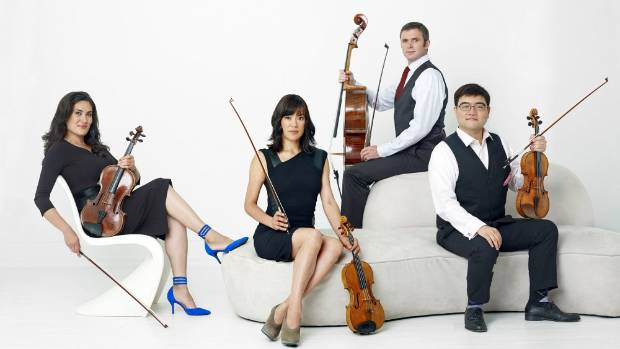 Melissa Reardon (viola), Maureen Nelson (violin), Richard Belcher (cello) and Ken Hamao (violin) are the Enso String ...