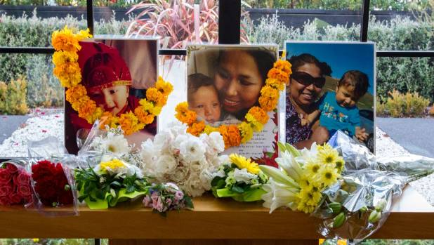 A funeral service for Mon Chhetri, 36, and her 7-month-old son, Aaron Chhetri, was held in Christchurch.