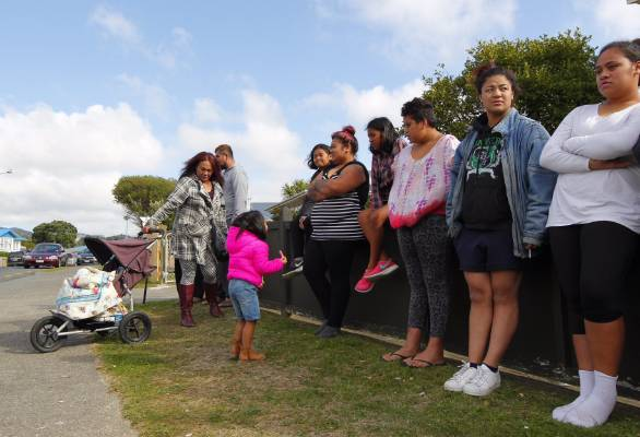 Some of the residents evacuated from their homes.