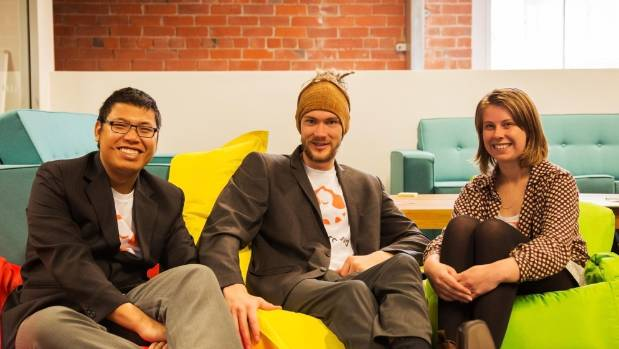 Tin Htoo Aung, Jacob Manning and Abbe Hyde, co-founders of SuchCrowd.
