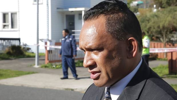 Rikki Te Kira, outside the house where his nephew Pita Te Kira died after a police stand-off, offered an apology to the ...