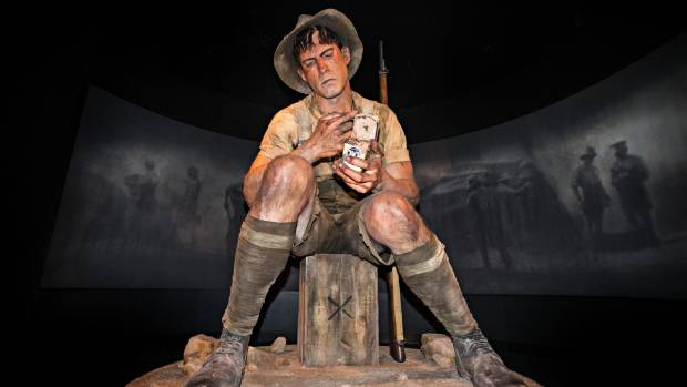 A 2.5 time scale model of Private Jack Dunn, who went to hospital with pneumonia after the first brutal month of ...