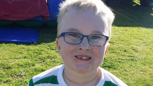 Hastings boy James Crous, eight, died in a crash in Napier in April.