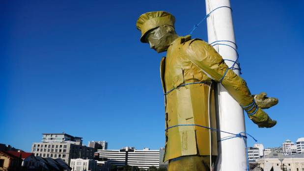 A sculpture in Wellington shows the horror conscientious objectors faced in WWI