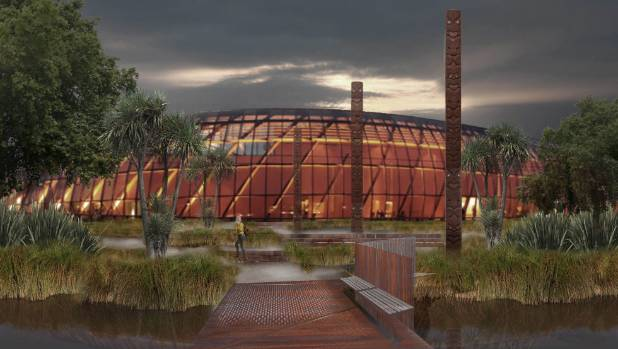 An artist's impression of the Te Puna Ahurea cultural centre from the Christchurch blueprint.