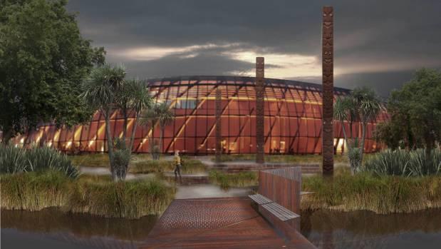 An artist's impression of the now-shelved Ngai Tahu Te Puna Ahurea Cultural Centre.
