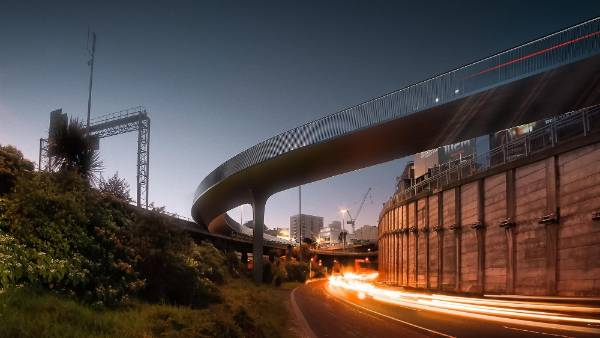Planning and urban design: Canada Street Bridge, Central Auckland, by Monk McKenzie and Novare Design, in association