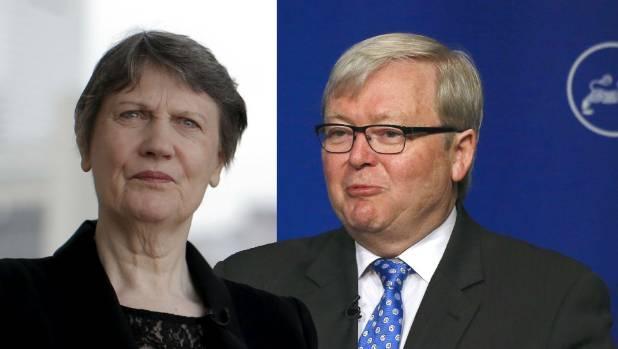 Helen Clark v Kevin Rudd - Rudd praised Clark in April when she entered the UN race.