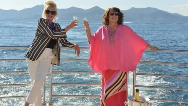 Joanna Lumley and Jennifer Saunders as Patsy and Eddie in Absolutely Fabulous: The Movie.