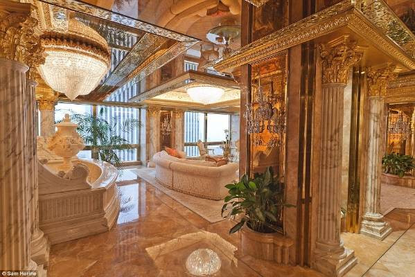 All that glitters is most certainly gold in Donald and Melania Trump's Manhattan penthouse.