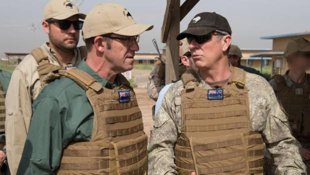 Defence Force chief Tim Keating visited Camp Taji in Iraq with Labour leader Andrew Little last year.