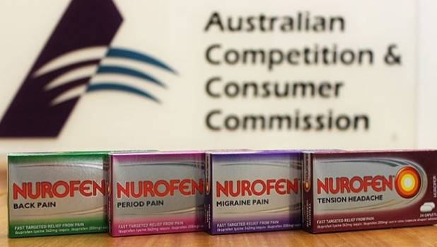 The ACCC, Australia's consumer watchdog, said the caplets in all four products contained the same active ingredient, ...
