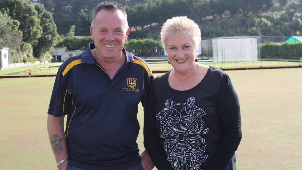 Mornington Golf Club vice-president Ray Tuffin with Rongotai MP Annette King. King presented Tuffin with the community ...