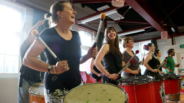 Enthusiastic drumming marks Wellington Batucada's final rehearsal at Cuba St's Thistle Hall after noise complaints ...
