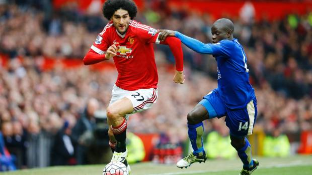 Marouane Fellaini scored in Manchester United's 3-1 win over Middlesbrough.