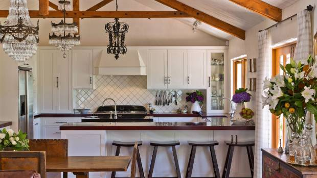 Worried your white kitchen is boring here 39 s how to give for Country style kitchen nz